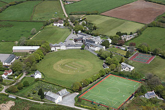 Shebbear College - An aerial view of the college grounds
