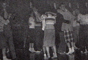 Sock hop - Sock hop at Shimer College in 1948.