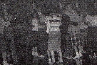 Sock hop - Sock hop at Shimer College in 1948.