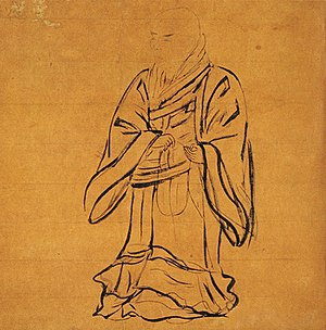 Jōdo Shinshū - Standing portrait of the founder of the Jōdo Shinshū school of Pure Land Buddhism located at Nishi Honganji, Kyoto. The painting has been designated as National Treasure of Japan