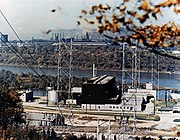 The Shippingport Atomic Power Station in Shippingport, Pennsylvania was the first commercial reactor in the USA and was opened in 1957.