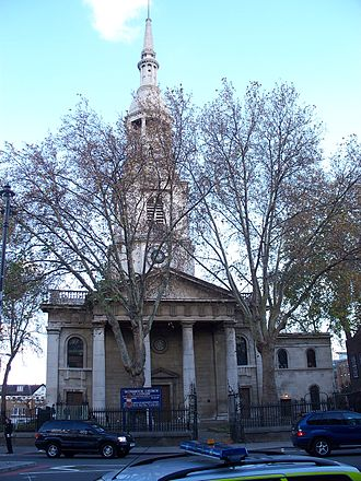 Shoreditch - Shoreditch church
