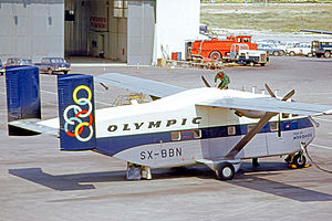 Olympic Airlines - Olympic Aviation Short Skyvan at the now closed Athens Hellenikon airport in April 1973