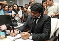 Shri Babul Supriyo taking charge as the Minister of State for Urban Development, Housing and Urban Poverty Alleviation, in New Delhi on November 10, 2014.jpg
