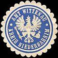 Siegelmarke Amt Wittenau - Kreis Niederbarnim W0215987.jpg