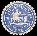 Siegelmarke Bürgermeisteramt - Ems W0255201.jpg