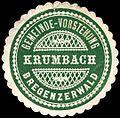 Siegelmarke Gemeinde-Vorstehung Krumbach - Bregenzerwald W0261322.jpg
