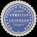 Siegelmarke Gemeinde Leiferde H. Braunschweig W0382767.jpg