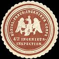 Siegelmarke K. Pr. Ingenieur Corps - 4te Ingenieur - Inspection W0238402.jpg