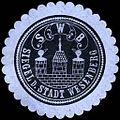 Siegelmarke Siegel der Stadt Wesenberg W0215631.jpg