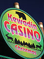 Sign for Kewadin Casino - Christmas (3067206641).jpg