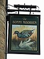 Sign for The Bonny Moorhen - geograph.org.uk - 1580985.jpg