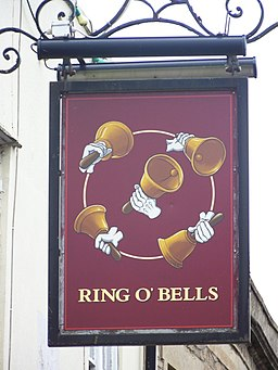 Sign for the Ring O' Bells - geograph.org.uk - 1559771