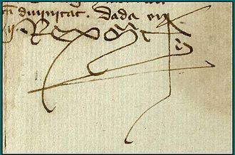 Martin of Aragon - Image: Signatura marti huma