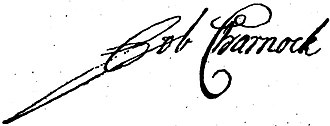 Job Charnock - Signature of Job Charnock (p.197, March 1824)