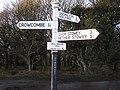 Signpost at Deadwoman's Ditch, Quantock hills - geograph.org.uk - 145165.jpg