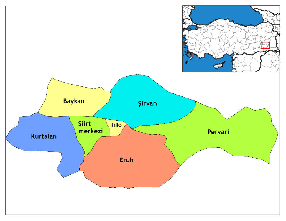 Siirt districts