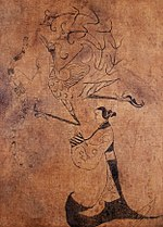 Silk Painting of a Lady, Phoenix and Dragon.jpg