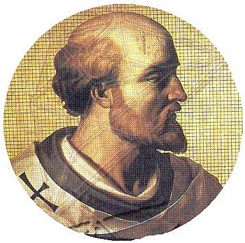 English: Impression of Pope Sylvester II, born...