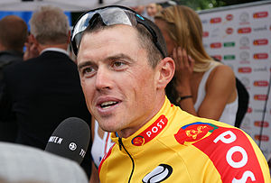 Simon Gerrans -  Simon Gerrans (Team Sky) after winning the 2011 Danmark Rundt