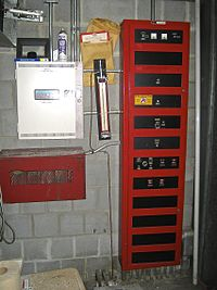 Simplex Monitor Module Wiring Diagram together with Fire alarm panel further Australian Telephone Wiring Diagram further Wiring Diagram For A Hunter Thermostat also Wiring A Garage Door. on addressable fire alarm system wiring diagram