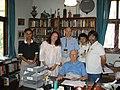 Sir Arthur C. Clarke with Danese Cooper,David Axmark & Sam Ruby.jpg