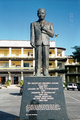 Grantley Herbert Adams - Image: Sir Grantley Adams statue, Barbados