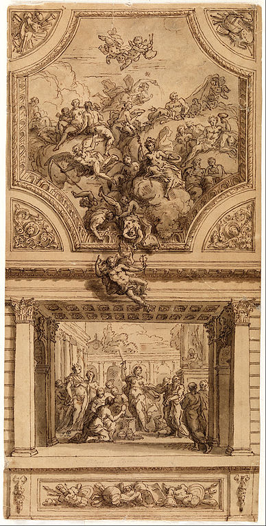 File Sir James Thornhill Study For Staircase Decoration