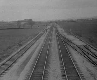 Disused railway stations on the Exeter to Plymouth Line - Exminster in 1970 looking north towards Exeter