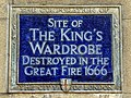 Site of The King's Wardrobe destroyed in the Great Fire 1666.jpg