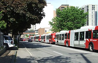 Ottawa Rapid Transit - Bus congestion on the Central Transitway
