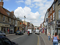 Sleaford high street; looking north along Southgate