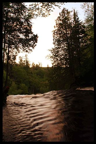 Laughing Whitefish River - Laughing Whitefish River at the Laughing Whitefish Falls Scenic Site