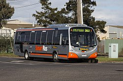 A Ventura Bus Lines DesignLine bodied MAN 16.240 painted in the SmartBus orange and silver livery on route 903