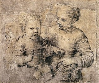 <i>Child Bitten by a Lobster</i> 1550s drawing by Sofonisba Anguissola