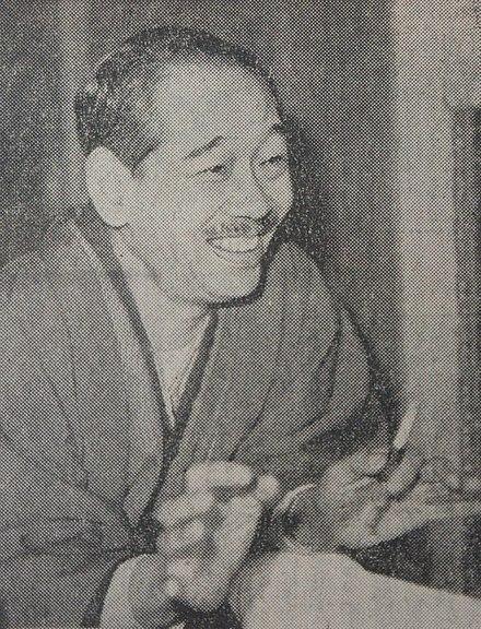 『徳川家康』連載再開の意気込みを語る山岡荘八(1963年)Wikipediaより