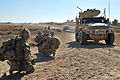 Soldiers from 5 Rifles on Patrol with a Husky Vehicle in Afghanistan MOD 45153494.jpg
