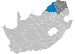 Ligging Waterberg District Municipality