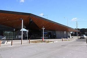 South Morang railway station - Station front in April 2012
