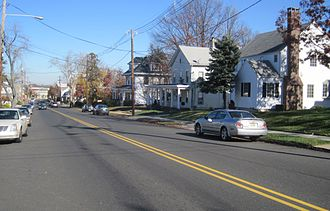South River, New Jersey - Residential neighborhood along Main Street (County Route 535) in South River