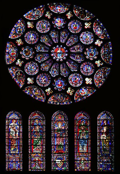 File:South rose window of Chartres Cathedral01.jpg