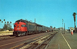 Glendale Transportation Center - Southern Pacific Railroad Lark at Glendale in 1965