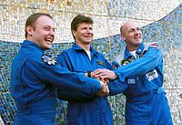 Michael Fincke, Gennady Padalka e André Kuipers