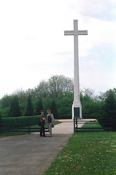 Spicheren, the cross of the fallen French troops in 1870