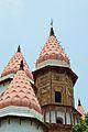 Spire and Domes - Hanseswari Mandir - Bansberia Royal Estate - Hooghly - 2013-05-19 7528.JPG