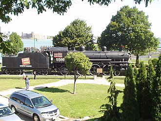 Canadian National Railway - CN 5588 Spirit of Windsor on display at Windsor, Ontario riverfront