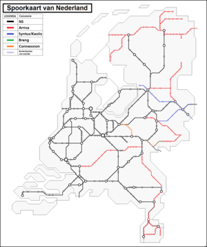 Rail transport in the Netherlands - Railway concessions in the Netherlands (2015)