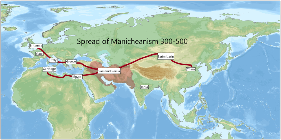 Spread of Manicheanism