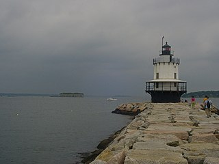 Spring Point Ledge Light lighthouse in Maine, United States