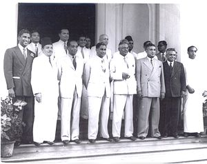 N. H. Keerthiratne - Sri Lanka - Cabinet of 1952 at Queen's House after swearing in ceremony on 17 June 1952